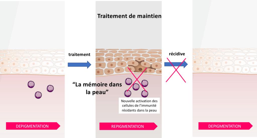 Traitement de maintien vitiligo repigmentation
