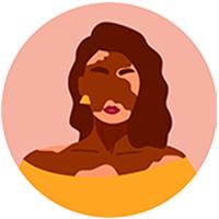 illu femme pigmentée taches vitiligo
